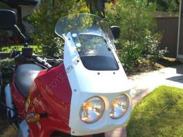 Laminar Lip tuuliohjain Moto Guzzi Quota, kirkas, Kaikki vm