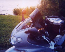 Laminar Touring Lip tuuliohjain, Kawasaki ZZR1200, tumma, Kaikki vm.