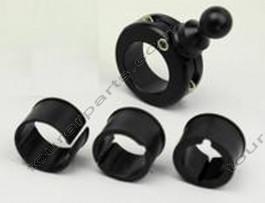 TECHMOUNT asennusteline pyöreälle ohjaustangolle, musta, 17mm pallo